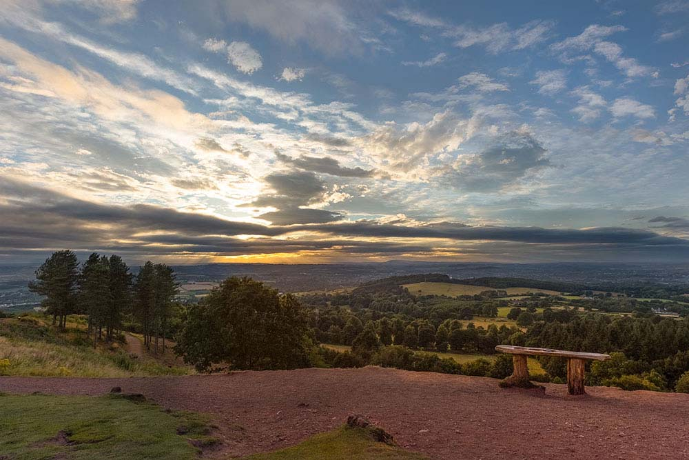 Sunset view at Clent hills.