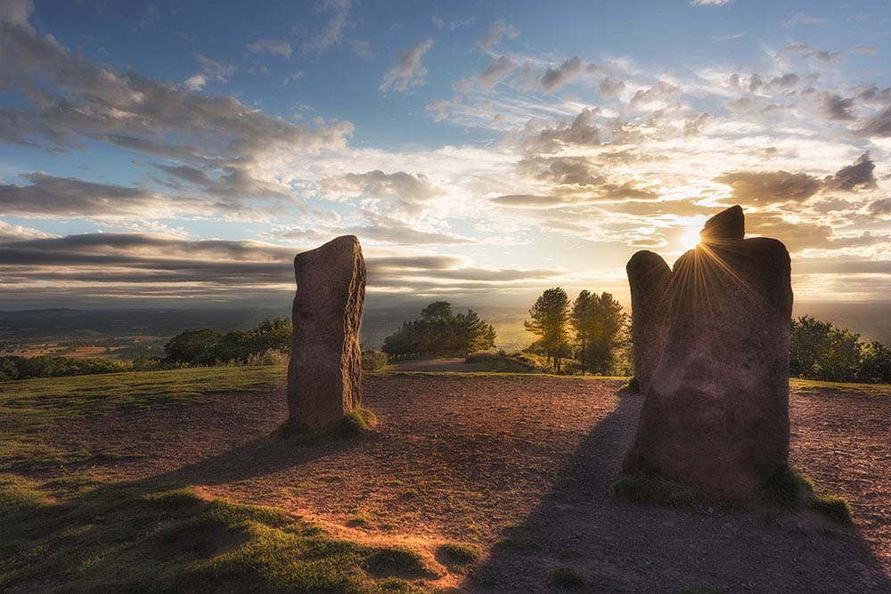 The four stones Clent hills.