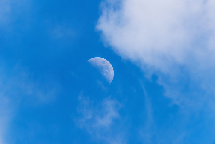 Day time blue moon.