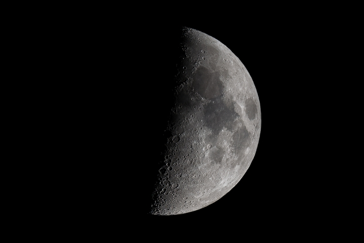 Third quarter moon.