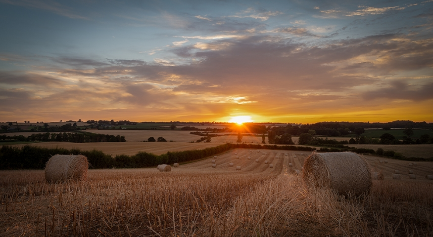 Sunset over Claverley.