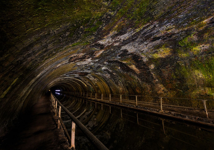 Bumble Hole, Netherton tunnel 2768 meters long.